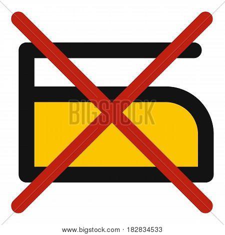 Do not iron icon flat isolated on white background vector illustration