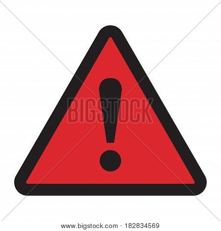 Danger sign. Hazard warning attention sign on a white background