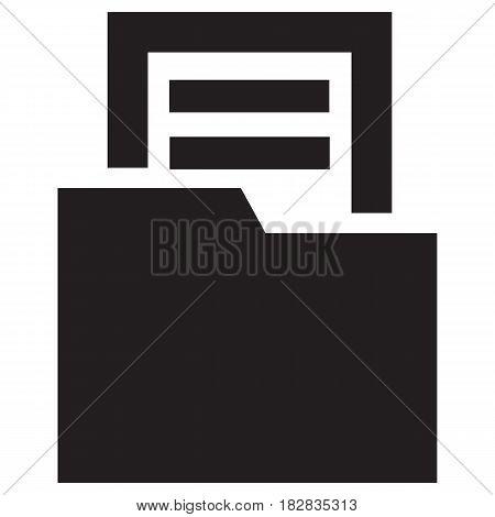 Open folder icon File Computer Icon Flat Computer Vector Document