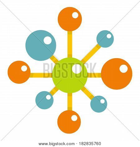 Chemical and physical atoms icon flat isolated on white background vector illustration