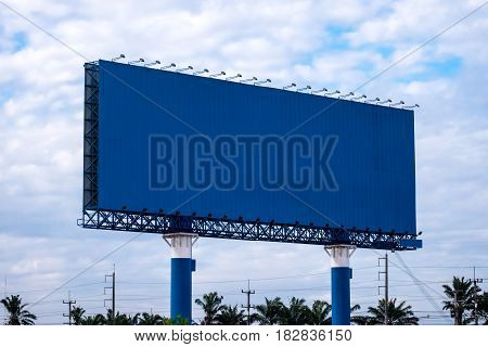 Blank Billboard giant eyecatcher at street for advertising