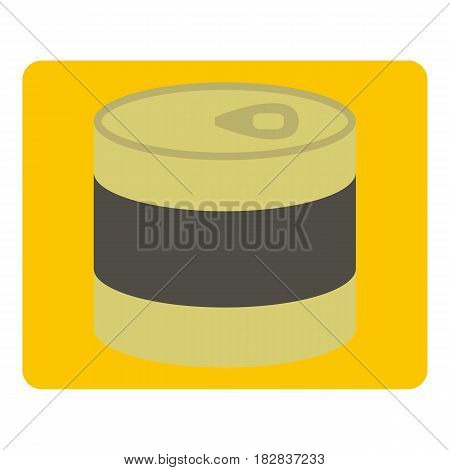 Closed tin can icon flat isolated on white background vector illustration