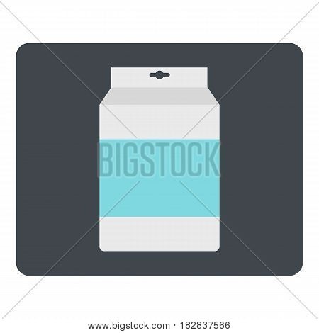 Box of milk icon flat isolated on white background vector illustration
