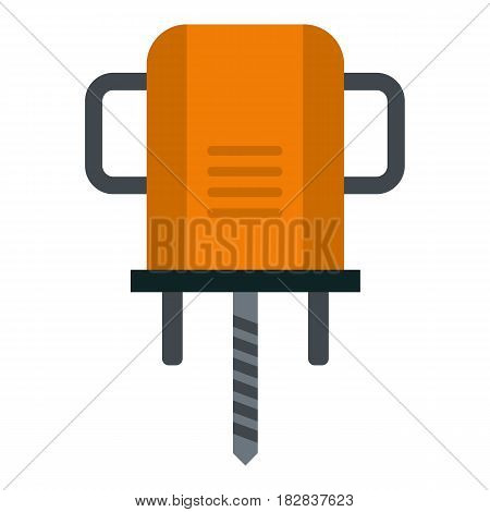 Orange boer drill icon flat isolated on white background vector illustration