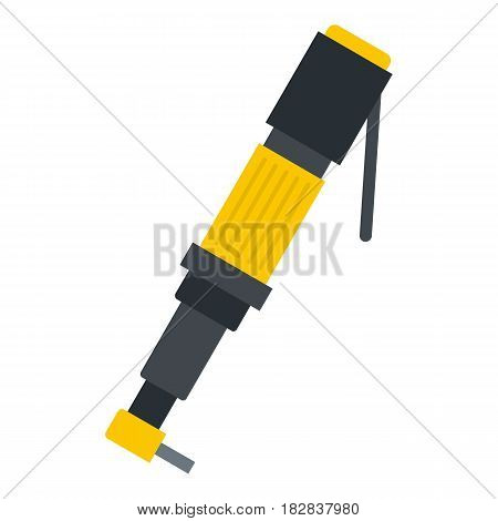 Pneumatic screwdriver icon flat isolated on white background vector illustration