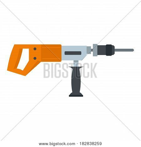 Electric drill, perforator icon flat isolated on white background vector illustration
