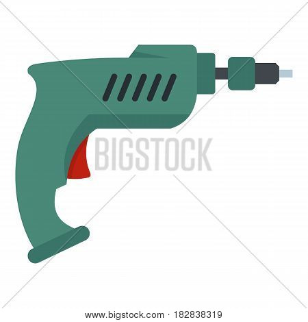 Drill icon flat isolated on white background vector illustration