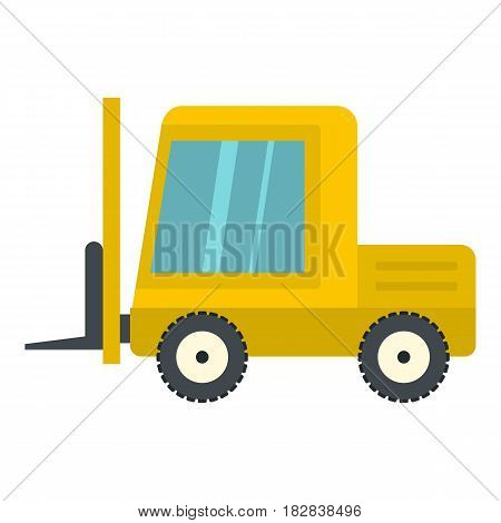 Yellow stacker loader icon flat isolated on white background vector illustration