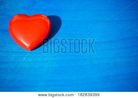 red heart on a blue background mothers day