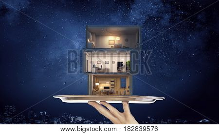 Your dream house design . Mixed media