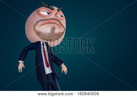 Internet Meme Fuck Yea. Rage Face 3D Illustration