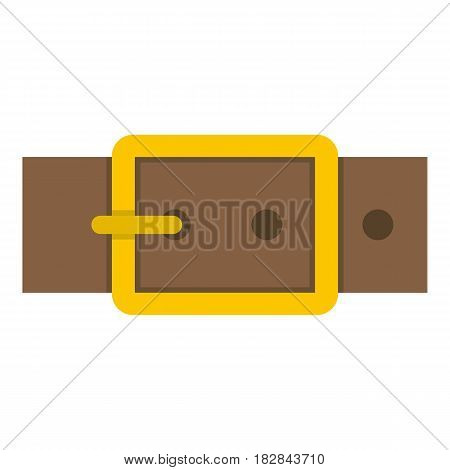 Gold square buckle icon flat isolated on white background vector illustration
