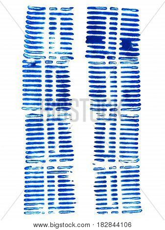 Blue watercolor blots isolated on white background. Watercolor blots for your design logo emblem banner.