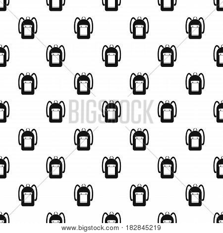 Backpack pattern seamless in simple style vector illustration