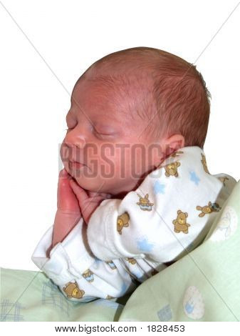 Beautiful Infant Girl Sleeping - Clipping Path Included