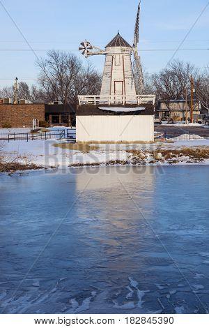 Kansas Friesen Mill in Hillsboro. Hillsboro Kansas USA.