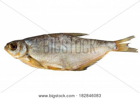 dryed fish isolated on a white background