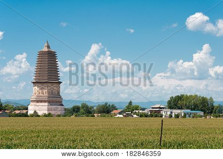 Inner Mongolia, China - Aug 08 2015: Site Of The Middle Capital Of The Liao Dynasty. A Famous Histor
