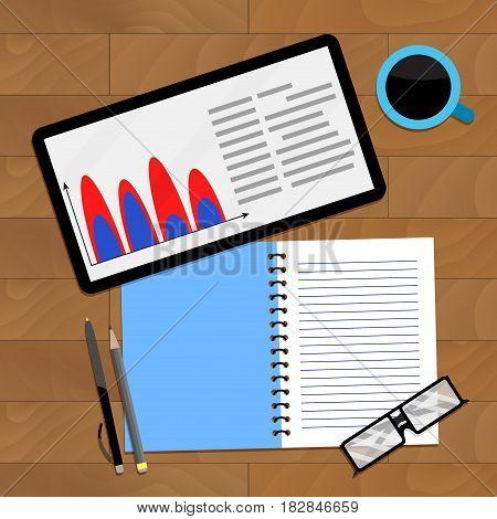 Finance accounting infochart vector financial infochart profit illustration