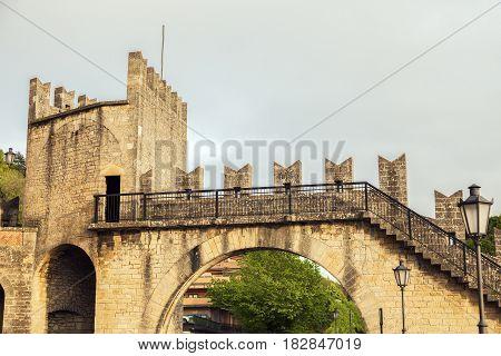 Old architecture of San Marino. San Marino.