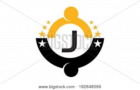 This vector describe about Success Life Coaching Initial J