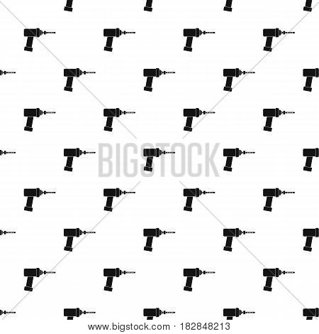 Medical drill pattern seamless in simple style vector illustration
