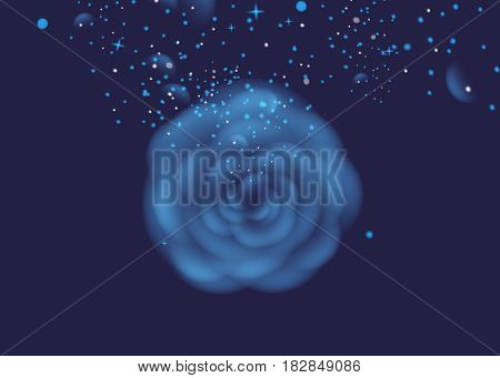 rose on dark background. Flower Vector illustration