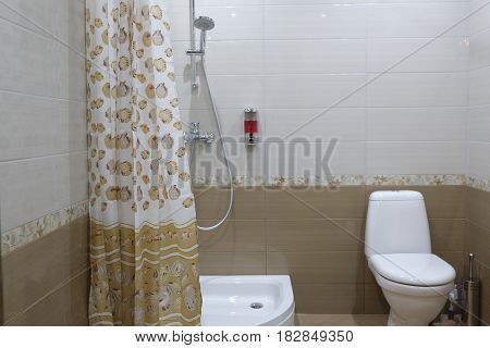 Interior of a toilet room