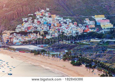 San Andres panorama. San Andres Santa Cruz de Tenerife. Tenerife Canary Islands Spain.