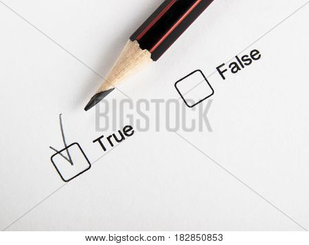 Checked true not false check box and pencil