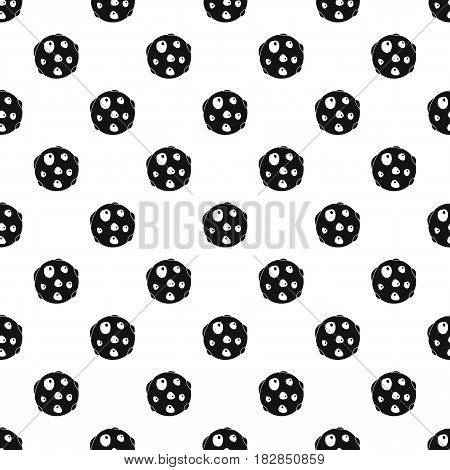 Alone planet pattern seamless in simple style vector illustration