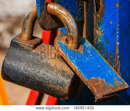 Padlock, rusty metal padlock, door lock, security, grunge padlock