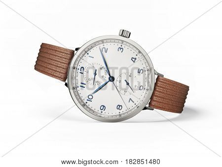 wrist watch isolated on a white background 3d illustration
