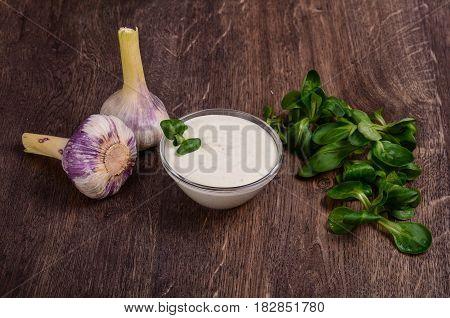 Homemade Garlic Cream Sauce.