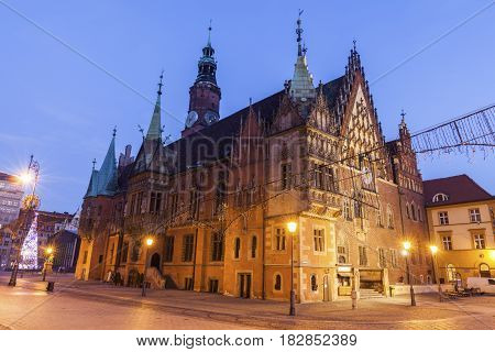Old City Hall on Market Square in Wroclaw. Wroclaw Lower Silesian Poland.
