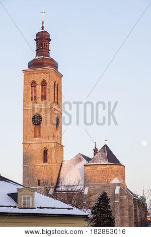 St. Jacob Church in Kutna Hora. Kutna Hora Central Bohemian Region Czech Republic.
