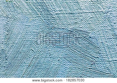 Artistic Textured Canvas Background With Expressive Blue Brushstrokes