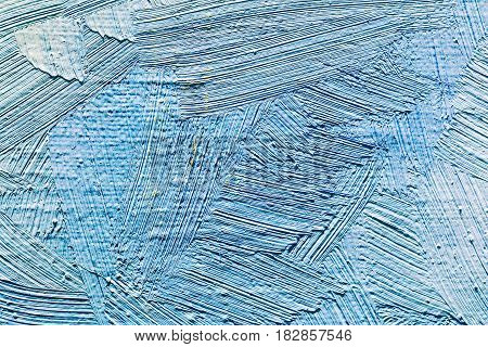 Abstract Hand Painted Background With Blue Brush Strokes