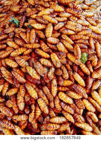 Fried Insects On The Street Stalls Of Asia