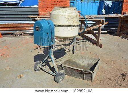 Concrete Mixer. Cement Mixer for Construction Job