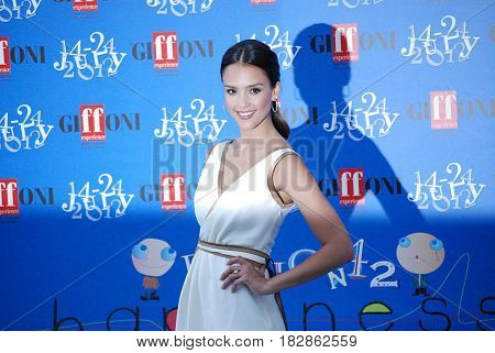 Giffoni Valle Piana Sa Italy - July 14 2012 : Jessica Alba at Giffoni Film Festival 2012 - on July 14 2012 in Giffoni Valle Piana Italy