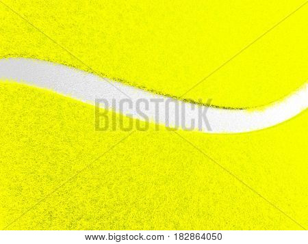 Close-up tennis ball texture background. 3D illustration.