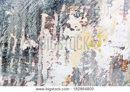 Abstract Hand Painted Grunge Canvas With Expressive Brush Strokes