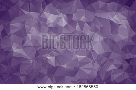 Abstract Background Made Of Small Triangles. Dark Blue Violet, White, Plain