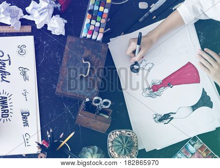 Font Words Drawing Painting Design Illustration Sketch Creativity