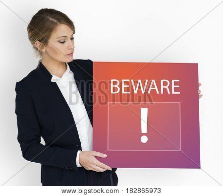 Exclamation Alarm Caution Warning Notification Mark Sign
