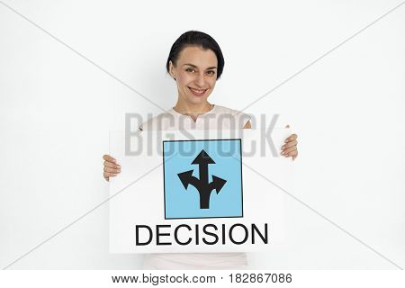 Roadsign Direction Graphic Icon Word