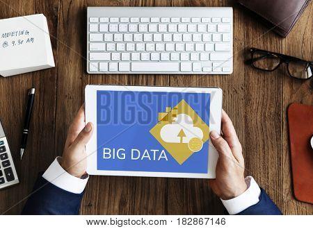 Big Data Share Information Concept