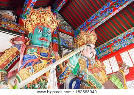 Liaoning, China - Aug 05 2015: Budda Statues At Shisheng Temple. Was Built To The Specifications Of