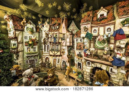 Rothenburg ob der Tauber, Germany - September 2017:  in the Christmas shop in town